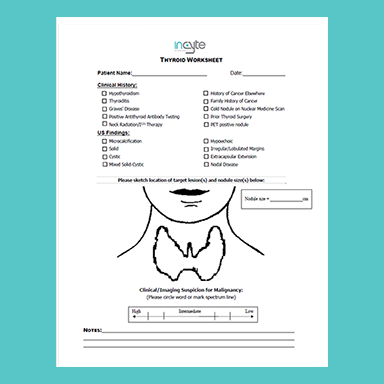 thyroid worksheet